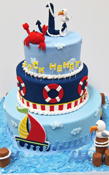Jack Henry First Birthday Nautical Cake Scrumptions