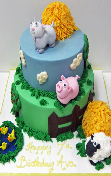Farm Animal Birthday Cake Scrumptions
