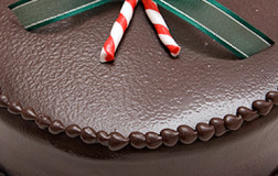 Dark Chocolate Mint Truffle Torte