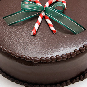 Dark Chocolate Mint Truffle Torte