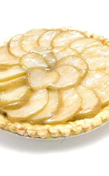 Gingery Pear Custard Pie