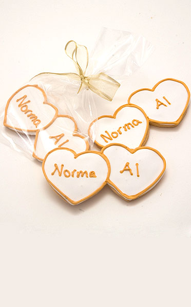 Personalized Heart Cookies