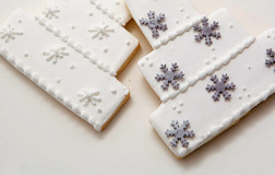 Winter Flurries Wedding Cake Cookies