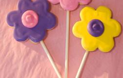 Flower Pop Cookies