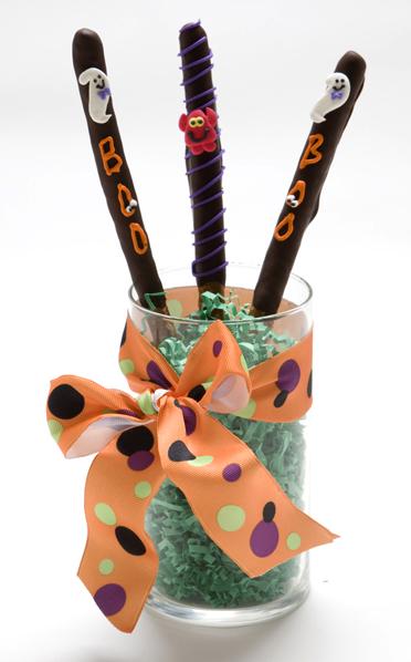 Halloween Chocolate Pretzel Rods