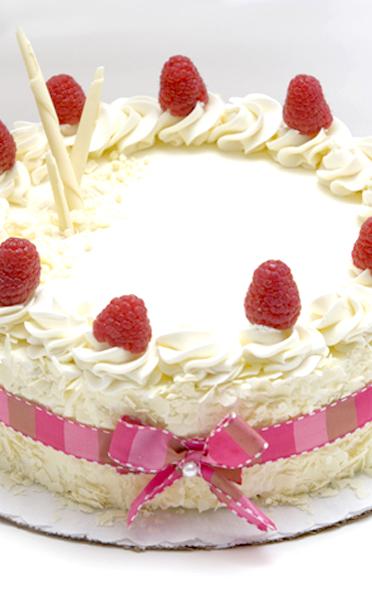 White Chocolate Raspberry Torte