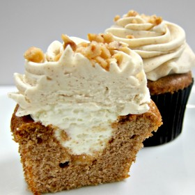 Spice Cupcakes with Fresh Apple Mousse
