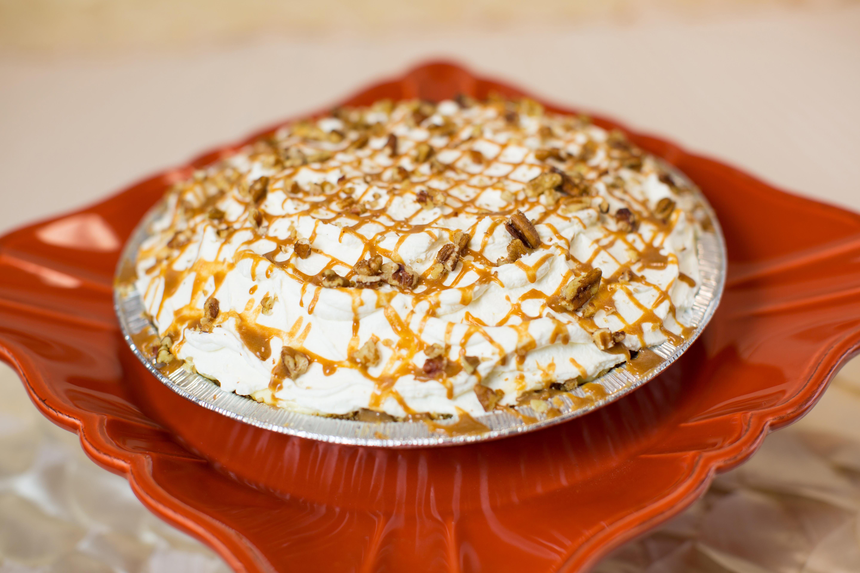 Salted Caramel Cheesecake Pie Recipe — Dishmaps