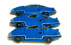 Blue Race Cars