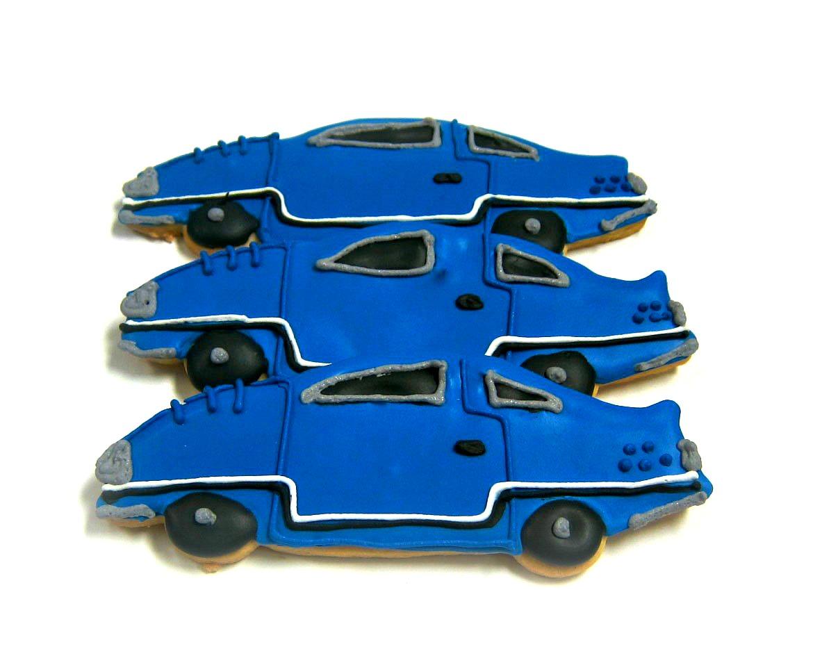 Blue Race Cars