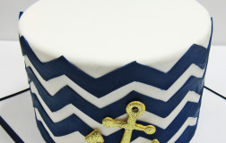 Chevron & gold anchor