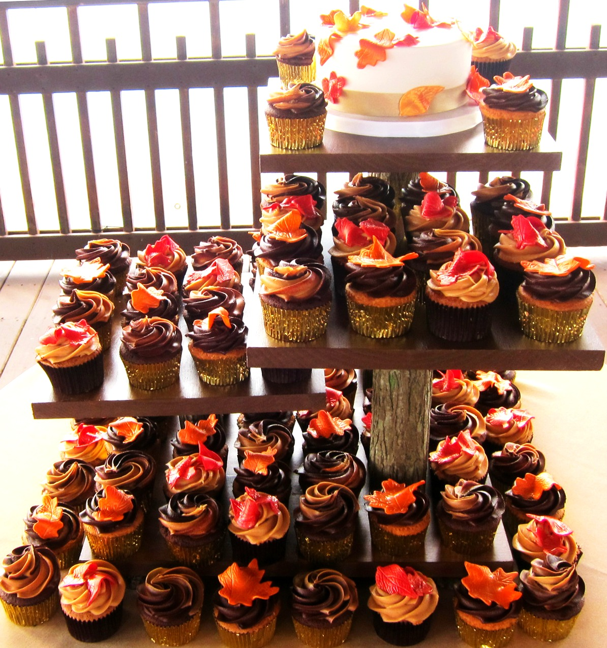 Fall Themed Wedding Cupcakes