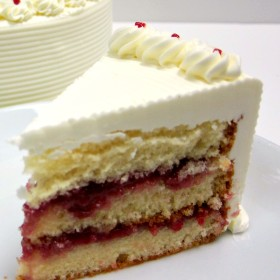 Raspberry Swiss Torte Cake Slice