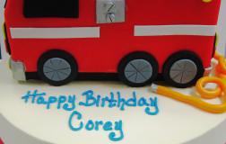 sm fire truck cake