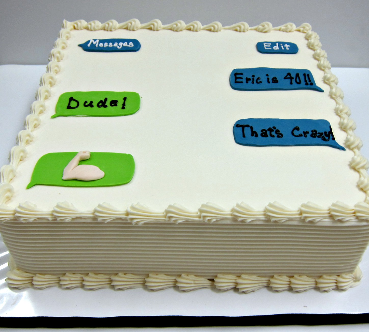 Text Message Cake Scrumptions