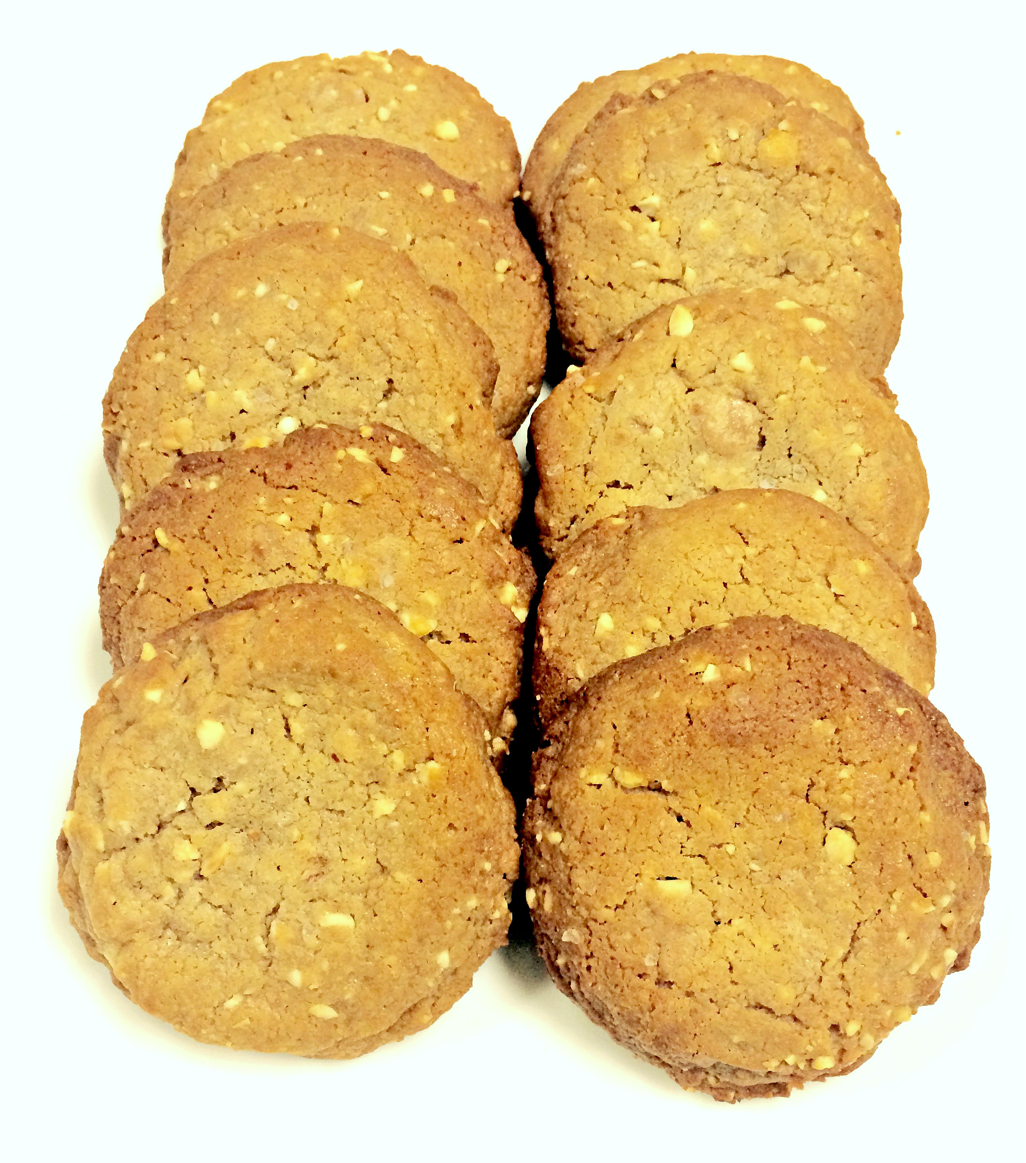 Peanut butter cookies with sea salt