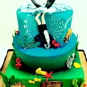 full size shot of skuba diving cake
